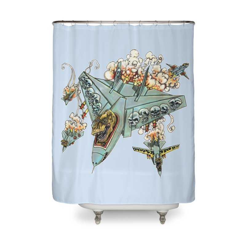 Tyrannosquadron Rocks Home Shower Curtain by