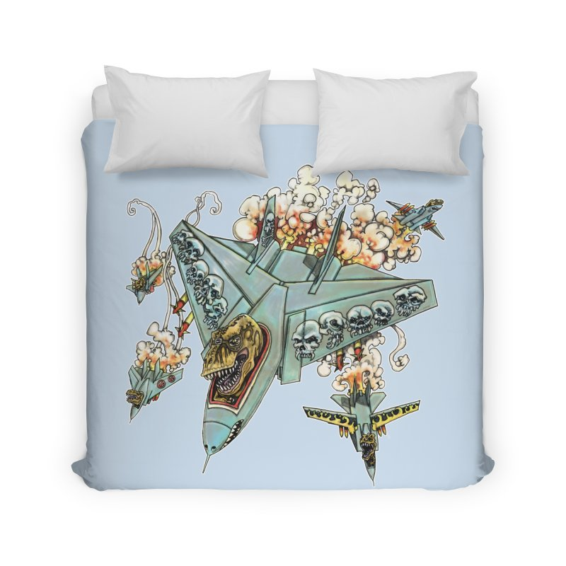 Tyrannosquadron Rocks Home Duvet by