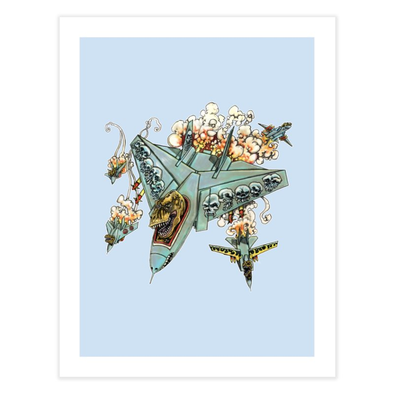 Tyrannosquadron Rocks Home Fine Art Print by