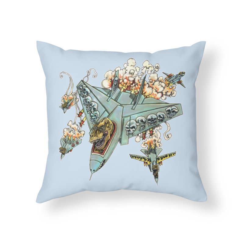 Tyrannosquadron Rocks Home Throw Pillow by