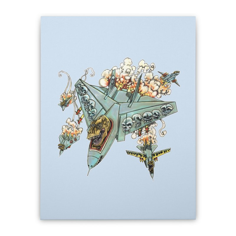 Tyrannosquadron Rocks Home Stretched Canvas by