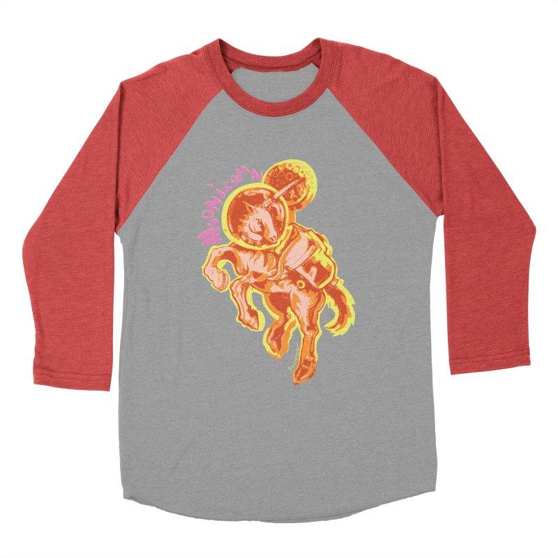 Moonicorn Men's Baseball Triblend Longsleeve T-Shirt by