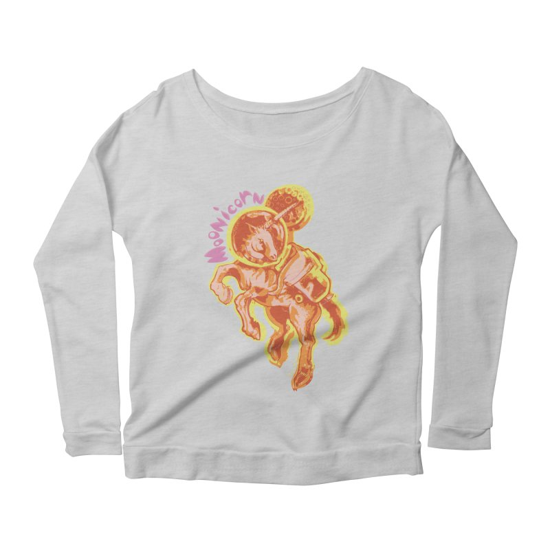 Moonicorn Women's Scoop Neck Longsleeve T-Shirt by