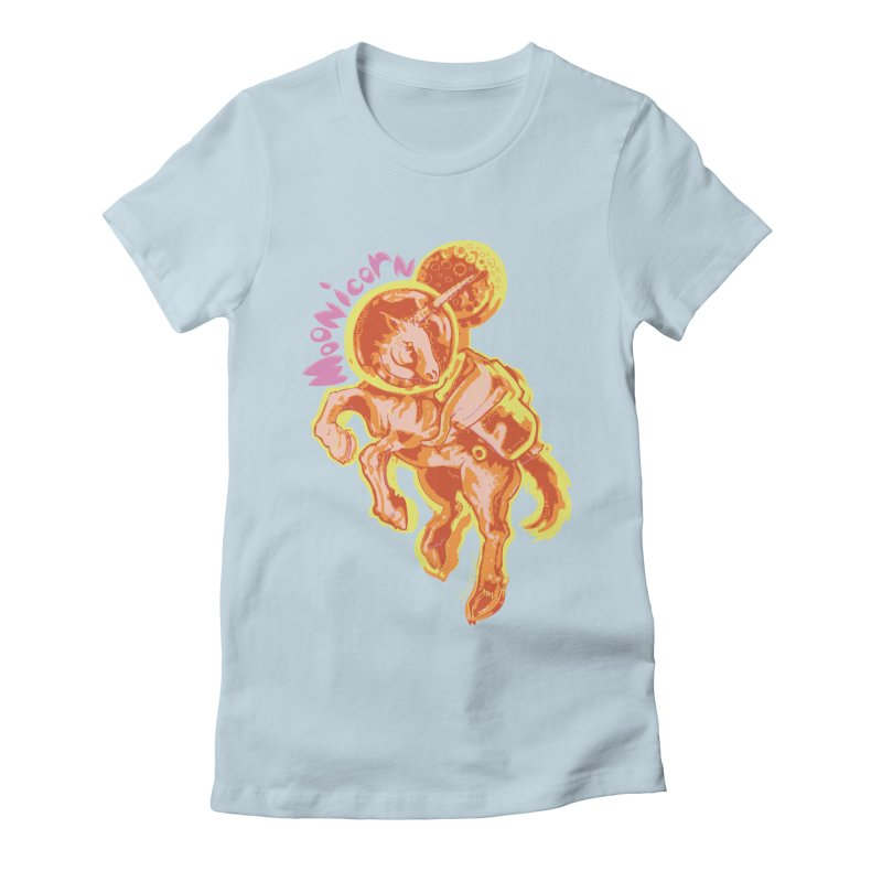 Moonicorn Women's Fitted T-Shirt by