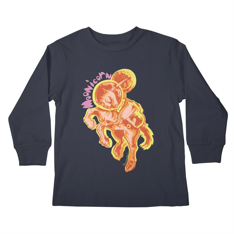 Moonicorn Kids Longsleeve T-Shirt by