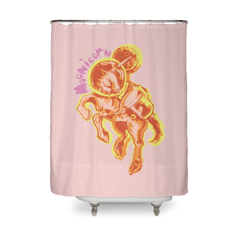 Moonicorn Home Shower Curtain by