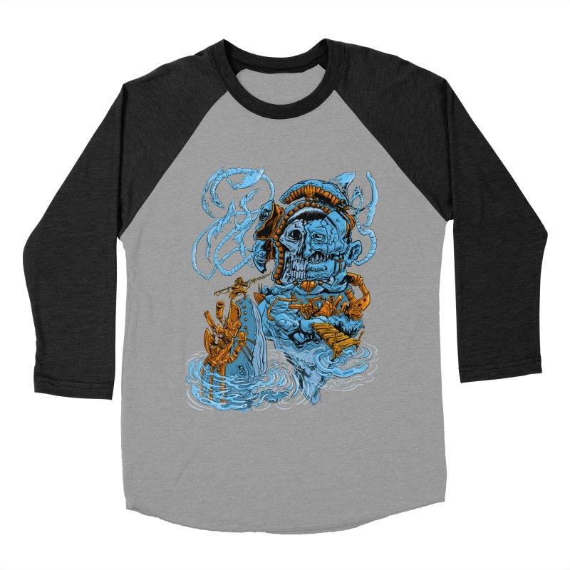 Steamborg Island Men's Baseball Triblend Longsleeve T-Shirt by