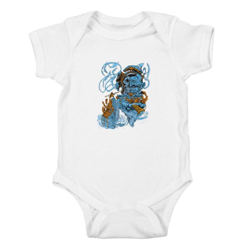 Steamborg Island Kids Baby Bodysuit by