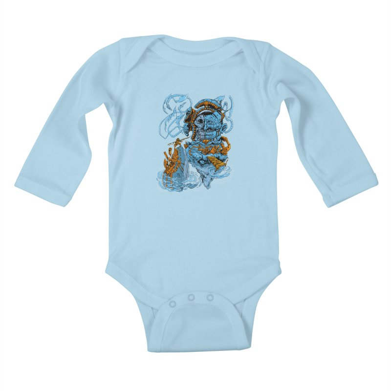 Steamborg Island Kids Baby Longsleeve Bodysuit by
