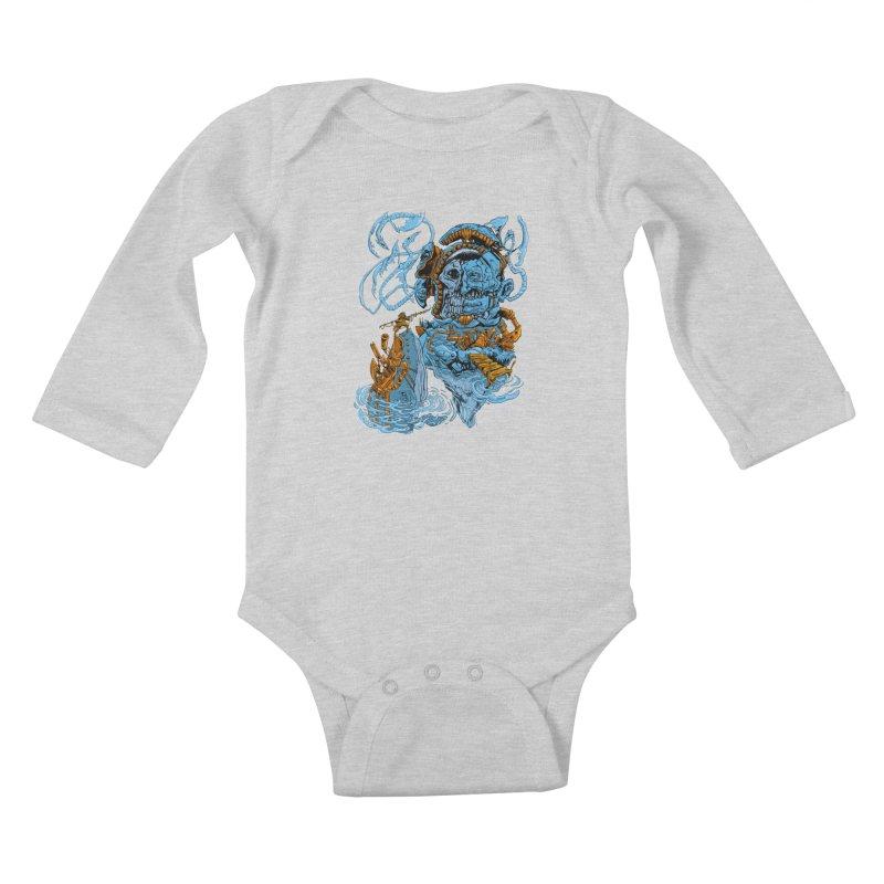 Steamborg Island Kids Baby Longsleeve Bodysuit by