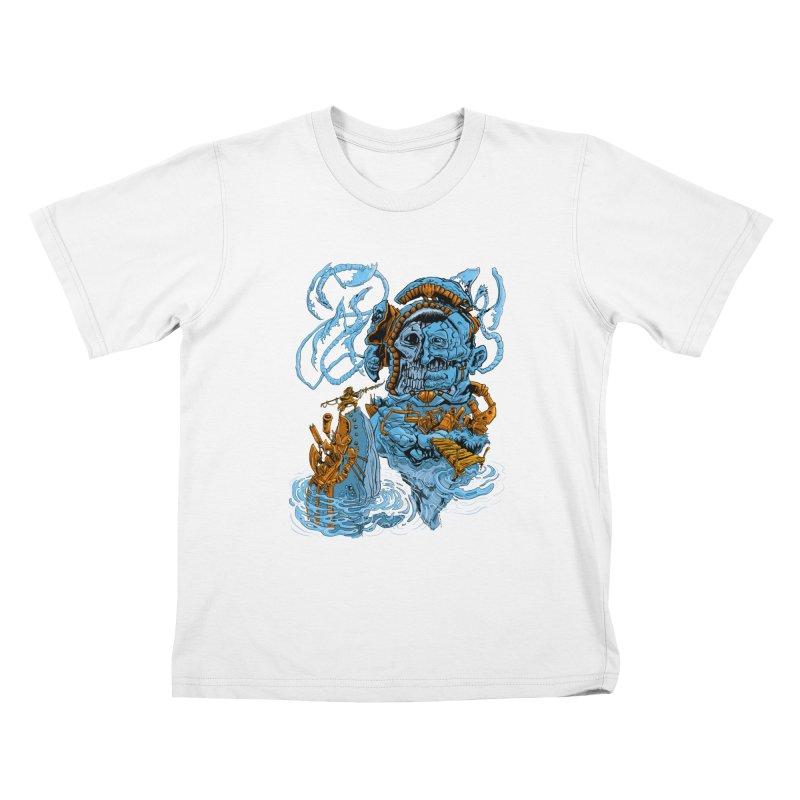 Steamborg Island Kids T-Shirt by