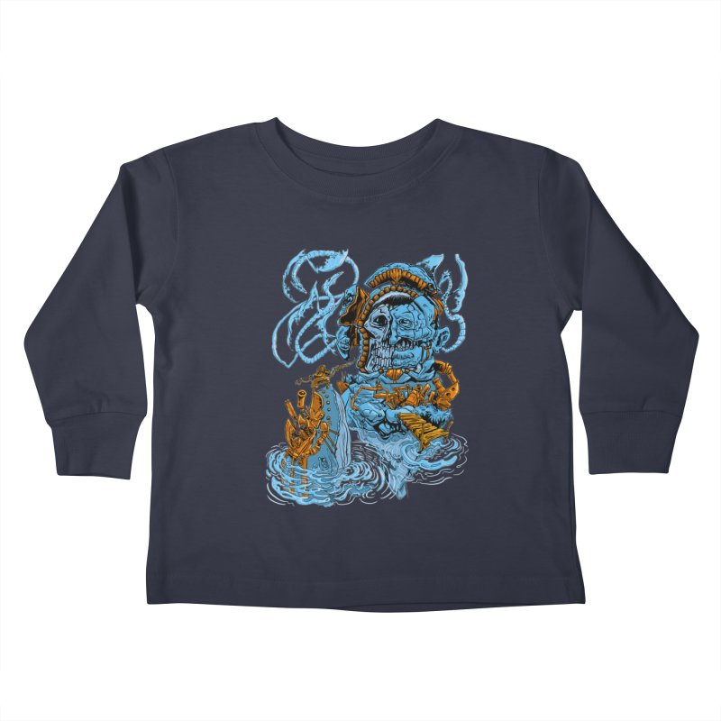 Steamborg Island Kids Toddler Longsleeve T-Shirt by