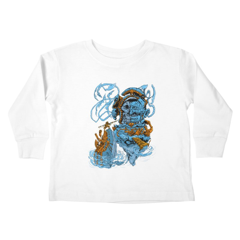 Steamborg Island Kids Toddler Longsleeve T-Shirt by