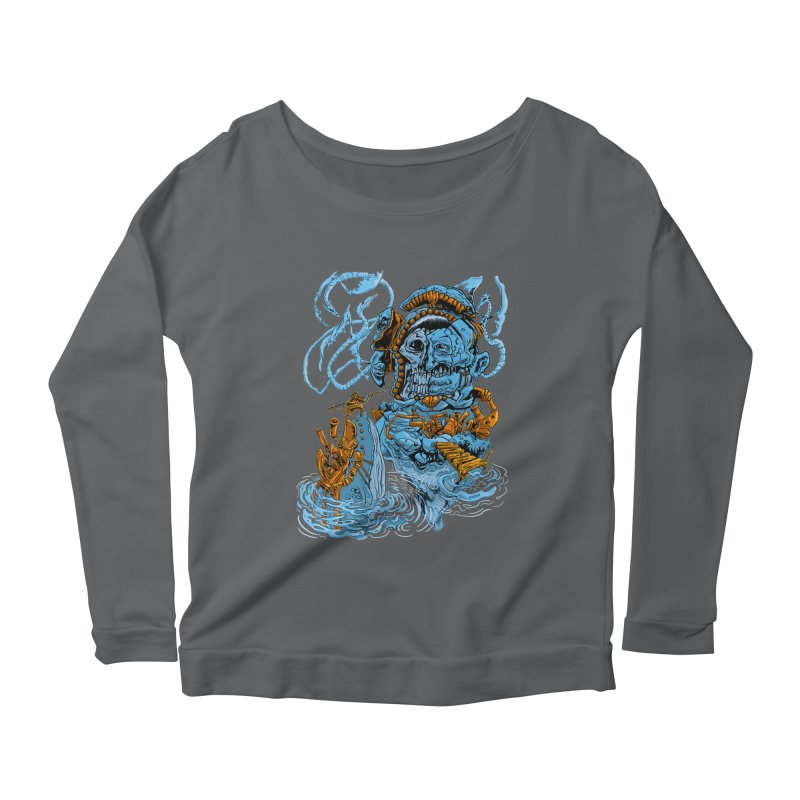 Steamborg Island Women's Longsleeve Scoopneck  by