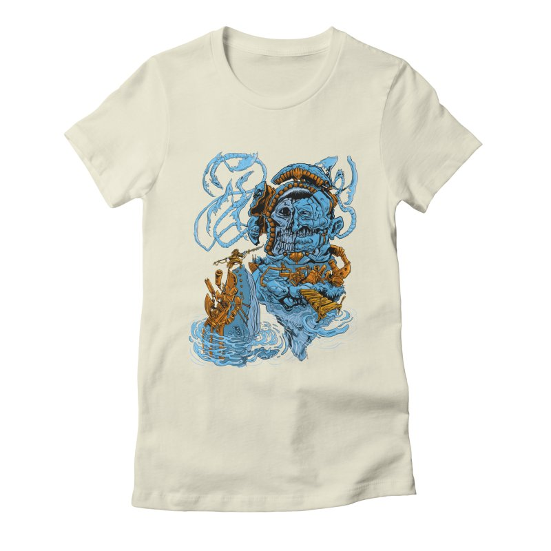 Steamborg Island Women's Fitted T-Shirt by