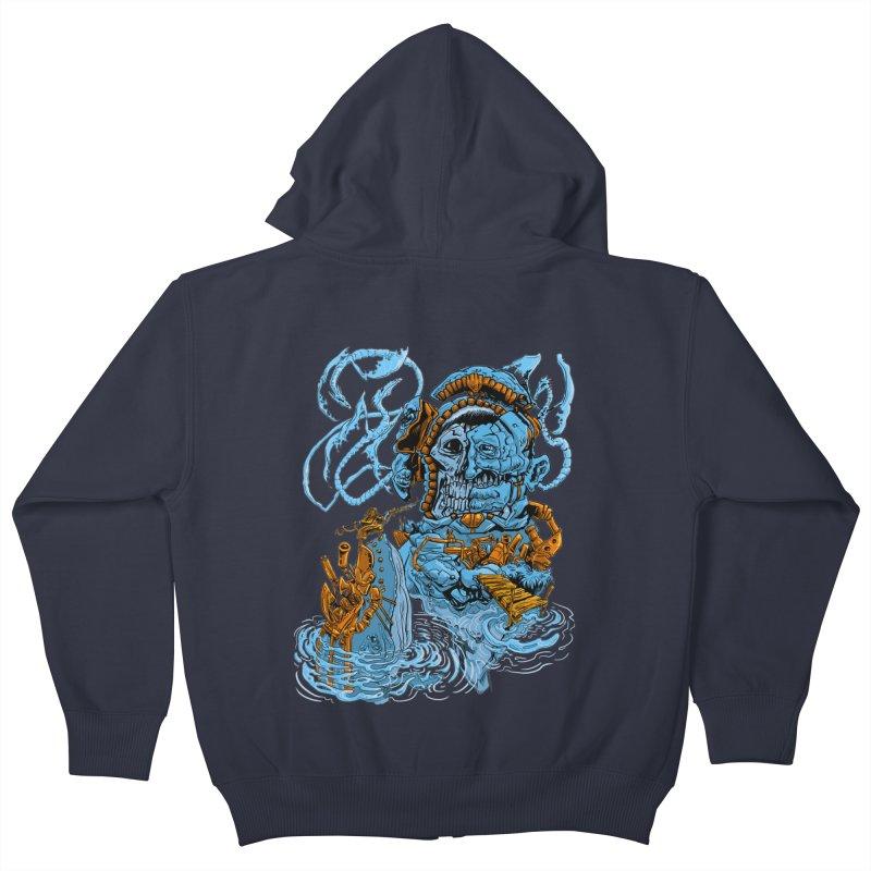 Steamborg Island Kids Zip-Up Hoody by