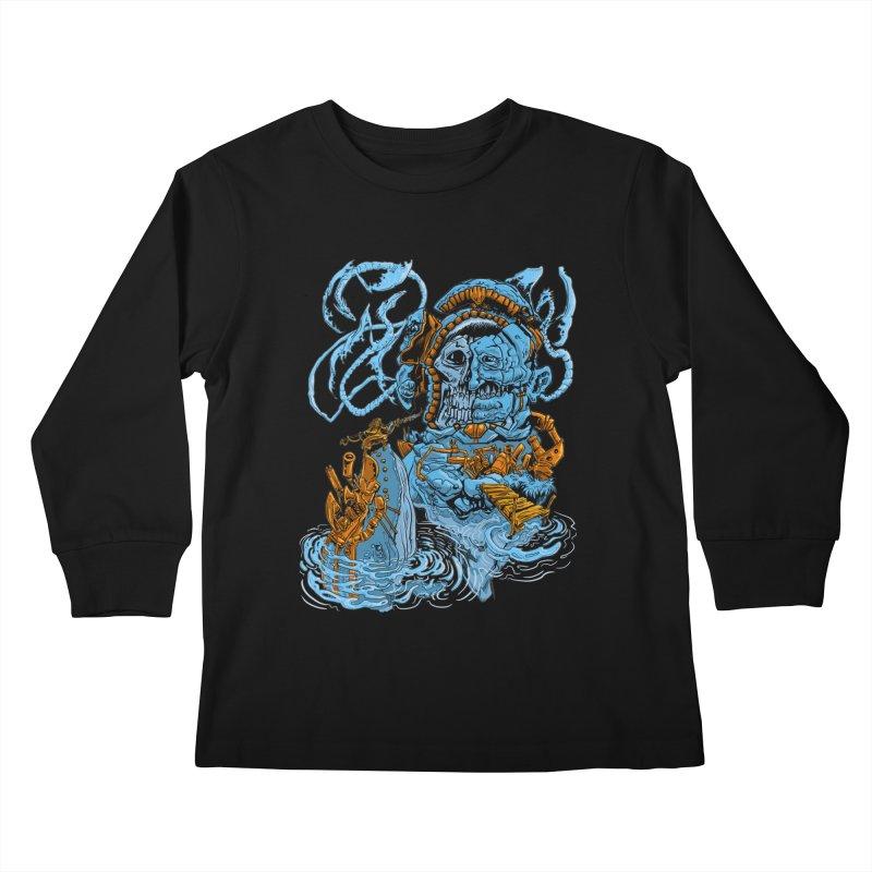 Steamborg Island Kids Longsleeve T-Shirt by