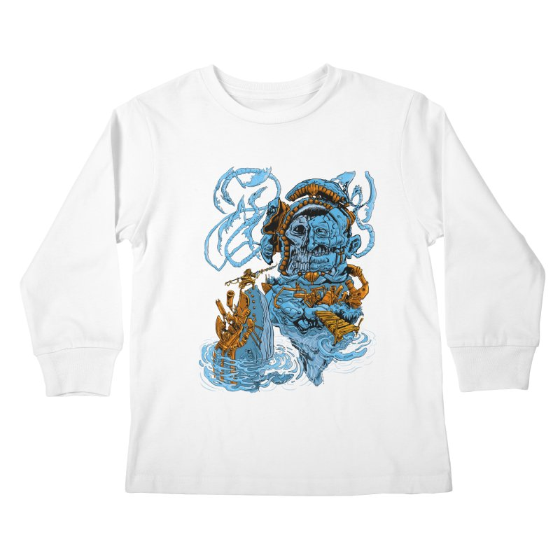 Steamborg Island Kids Longsleeve T-Shirt by