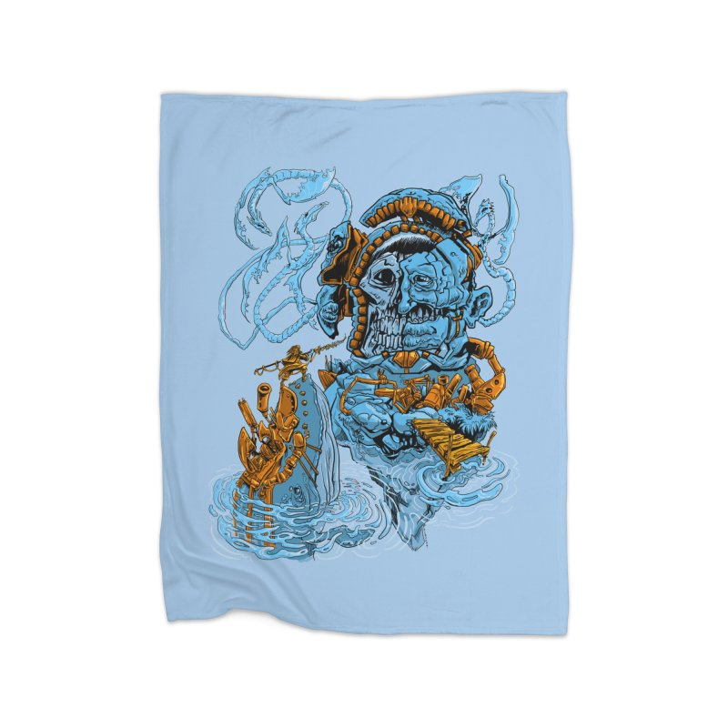 Steamborg Island Home Blanket by