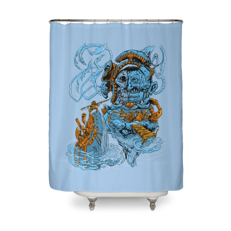 Steamborg Island Home Shower Curtain by