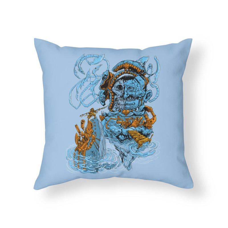 Steamborg Island Home Throw Pillow by