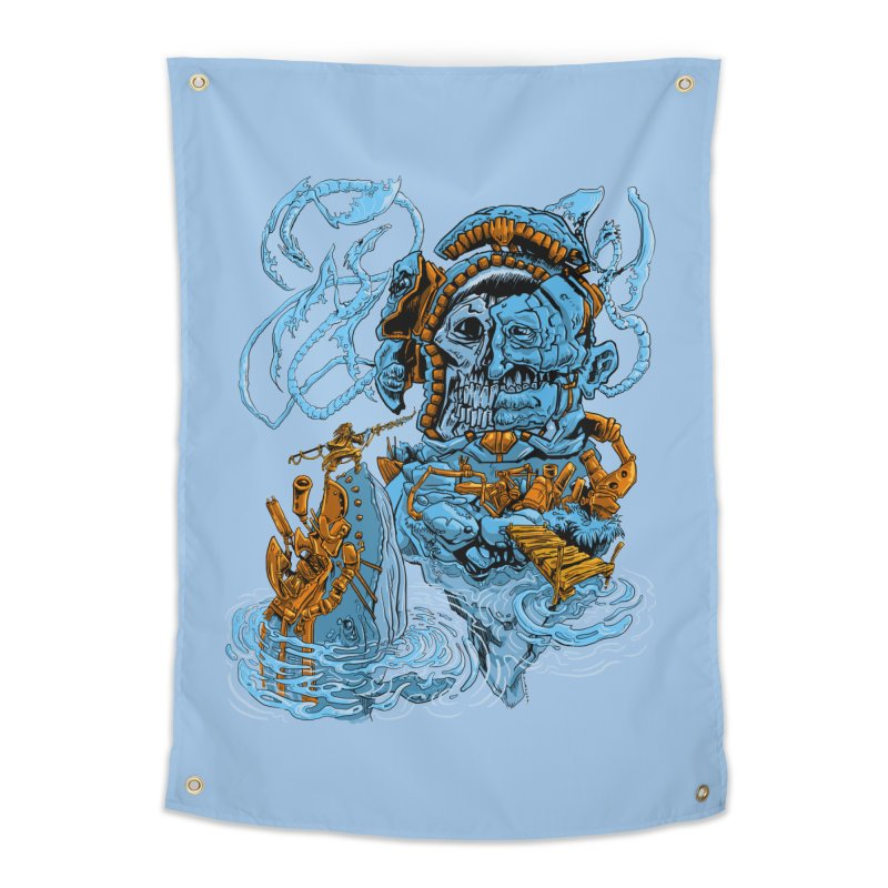 Steamborg Island Home Tapestry by