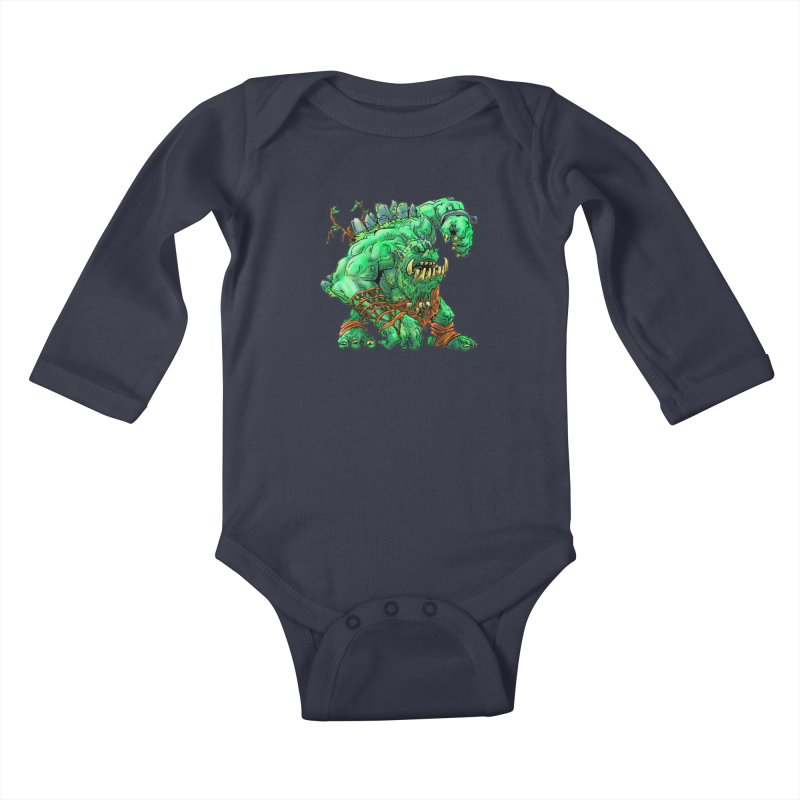 Straight Trollin' Kids Baby Longsleeve Bodysuit by