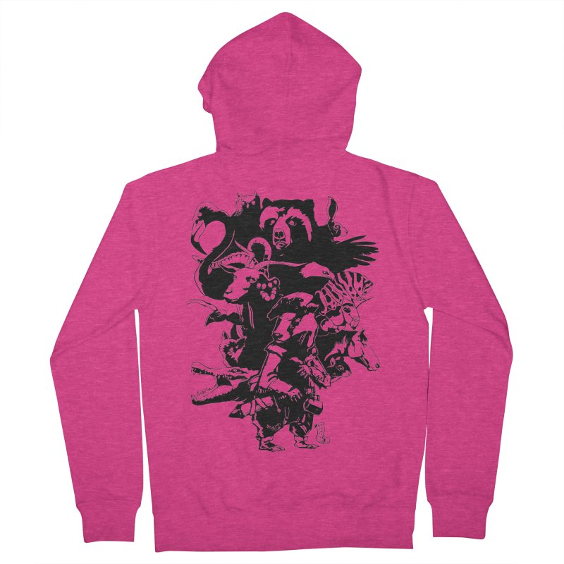 Chunt, King of the Badger (Uncolored) Women's French Terry Zip-Up Hoody by