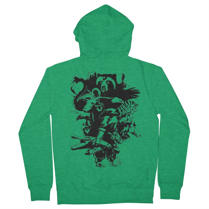 Chunt, King of the Badger (Uncolored) Men's French Terry Zip-Up Hoody by