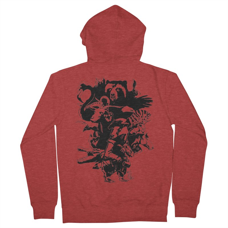 Chunt, King of the Badger (Uncolored) Men's Zip-Up Hoody by