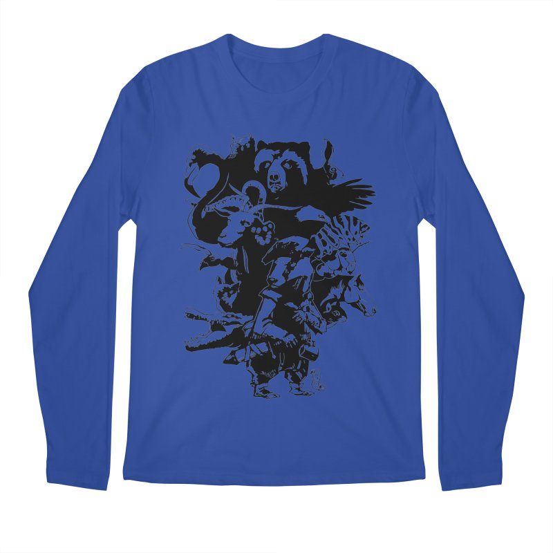 Chunt, King of the Badger (Uncolored) Men's Regular Longsleeve T-Shirt by
