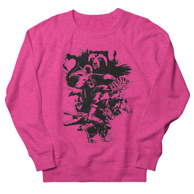Chunt, King of the Badger (Uncolored) Women's French Terry Sweatshirt by