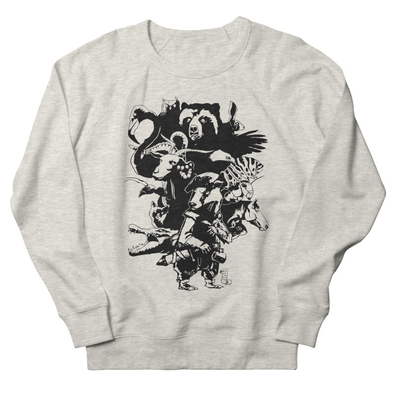 Chunt, King of the Badger (Uncolored) Men's French Terry Sweatshirt by