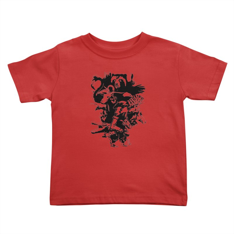 Chunt, King of the Badger (Uncolored) Kids Toddler T-Shirt by