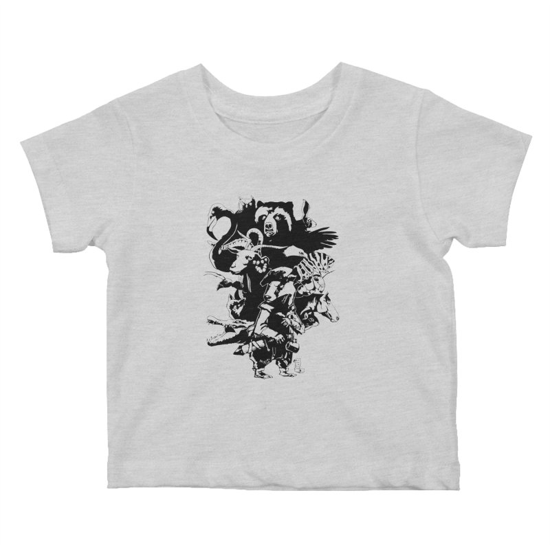 Chunt, King of the Badger (Uncolored) Kids Baby T-Shirt by