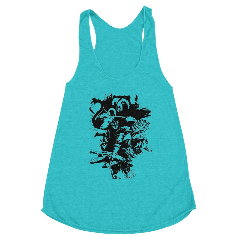 Chunt, King of the Badger (Uncolored) Women's Racerback Triblend Tank by