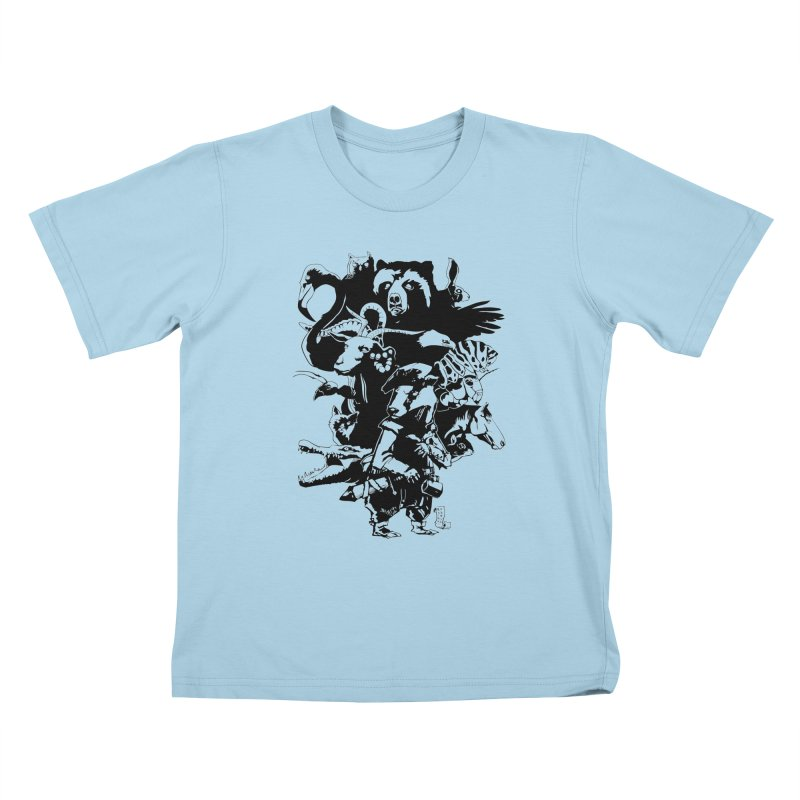 Chunt, King of the Badger (Uncolored) Kids T-Shirt by