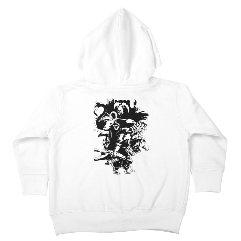 Chunt, King of the Badger (Uncolored) Kids Toddler Zip-Up Hoody by