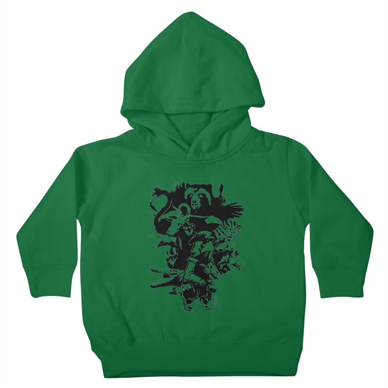 Chunt, King of the Badger (Uncolored) Kids Toddler Pullover Hoody by