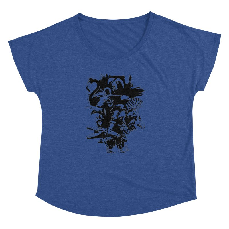 Chunt, King of the Badger (Uncolored) Women's Dolman Scoop Neck by