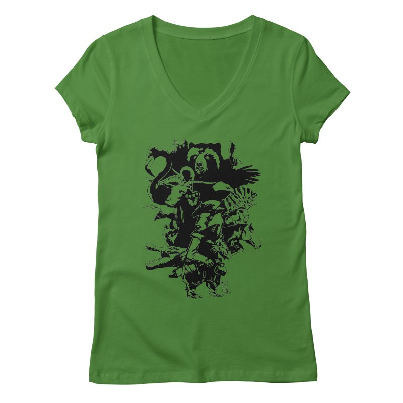 Chunt, King of the Badger (Uncolored) Women's Regular V-Neck by