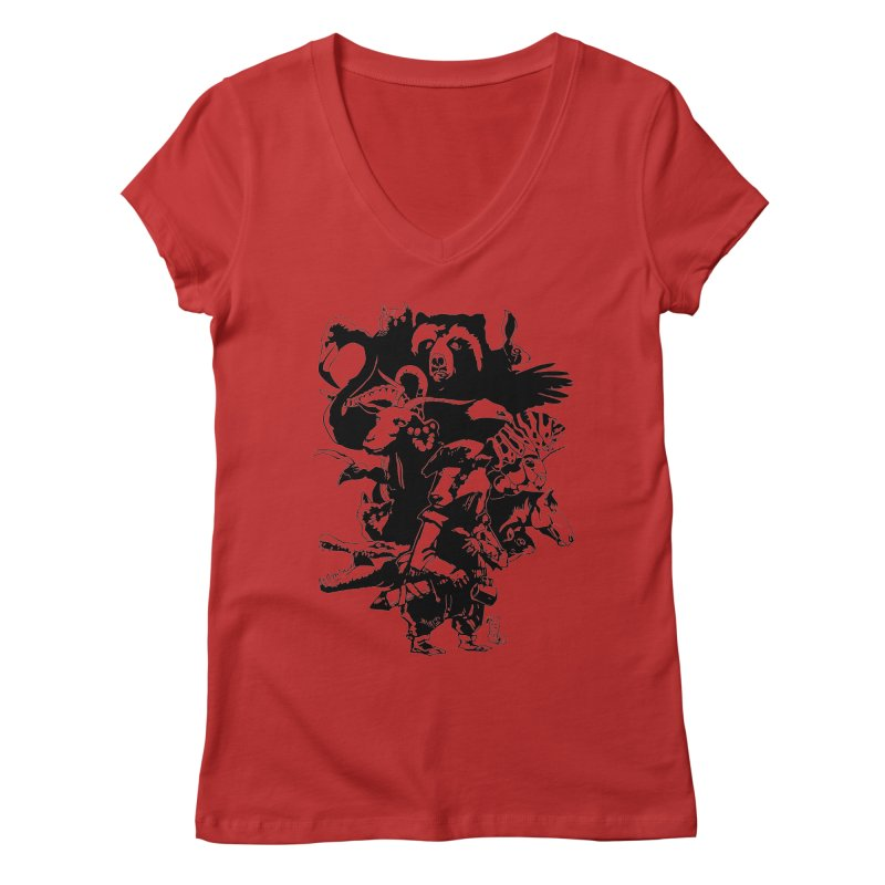 Chunt, King of the Badger (Uncolored) Women's V-Neck by
