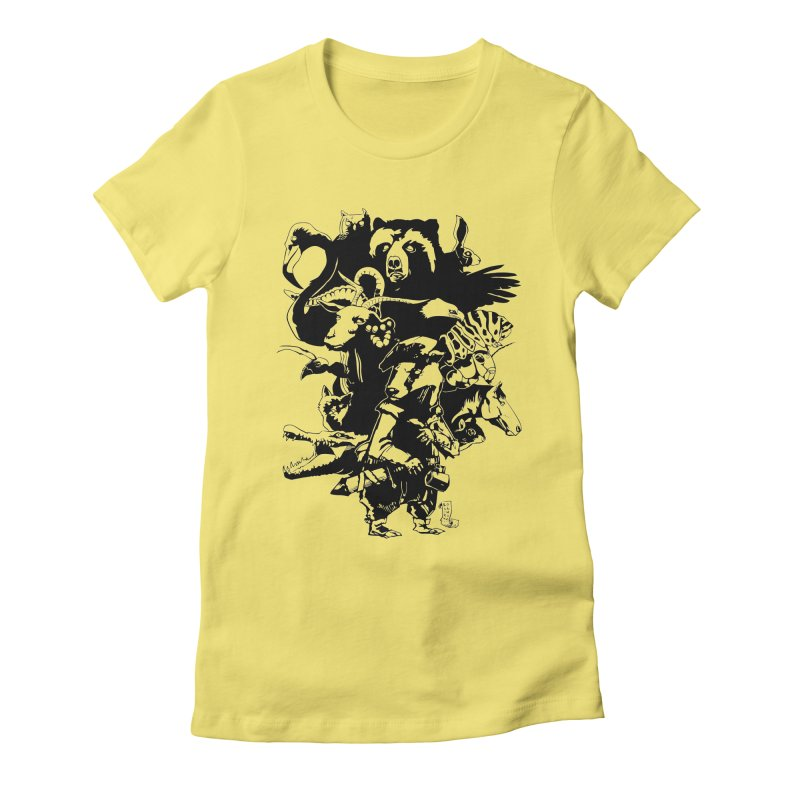 Chunt, King of the Badger (Uncolored) Women's Fitted T-Shirt by