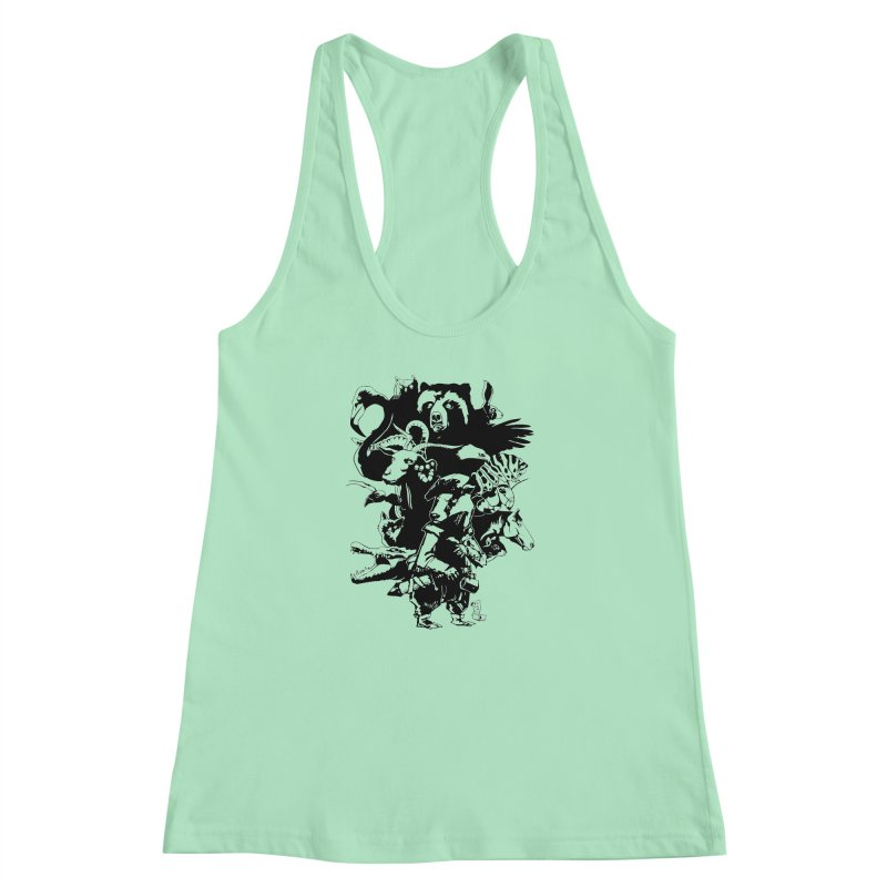 Chunt, King of the Badger (Uncolored) Women's Racerback Tank by