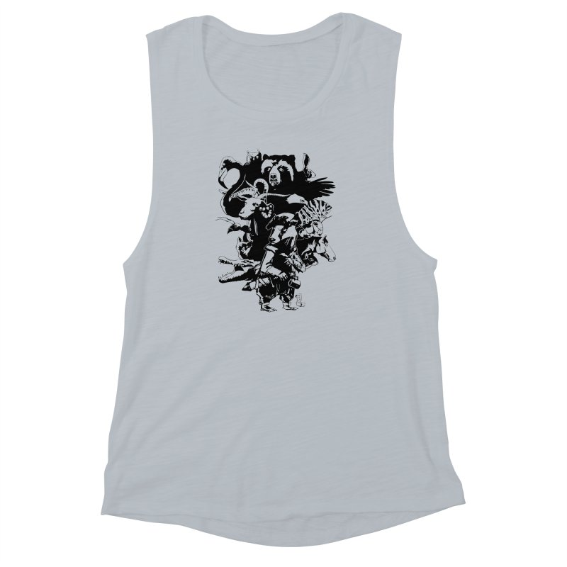 Chunt, King of the Badger (Uncolored) Women's Muscle Tank by