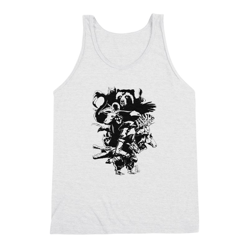 Chunt, King of the Badger (Uncolored) Men's Triblend Tank by