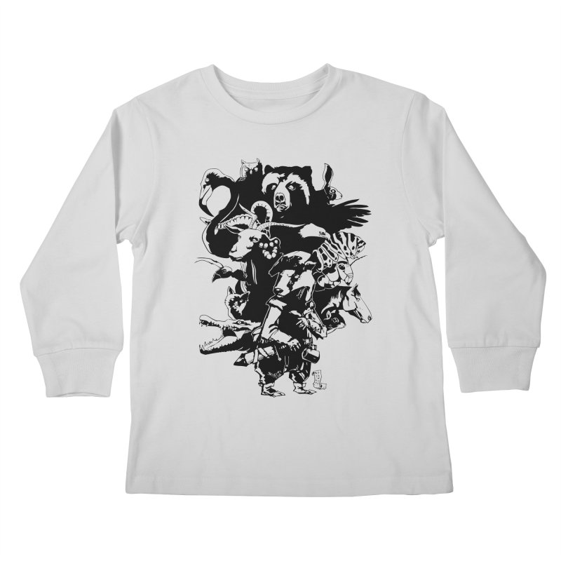 Chunt, King of the Badger (Uncolored) Kids Longsleeve T-Shirt by