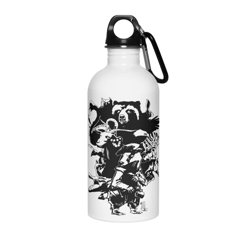 Chunt, King of the Badger (Uncolored) Accessories Water Bottle by