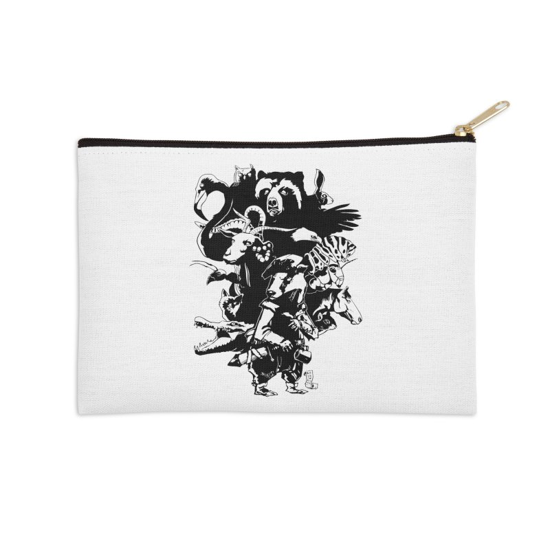 Chunt, King of the Badger (Uncolored) Accessories Zip Pouch by