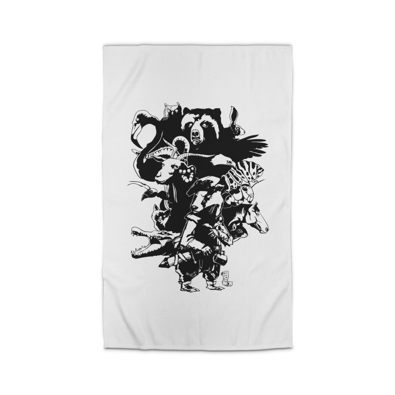 Chunt, King of the Badger (Uncolored) Home Rug by